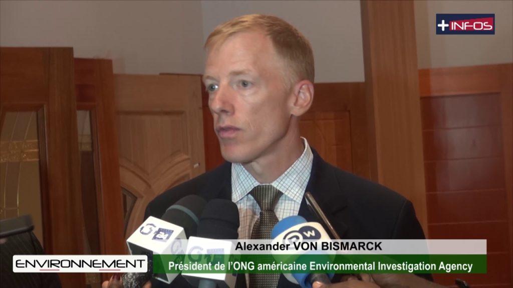 Traçabilité du bois: l'ONG Environmental Investigation Agency à Nkok